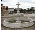 Fuente de mármol tres platos con cerco