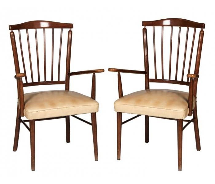 Pareja de sillas de brazos de estilo windsor de haya - Sillas anos 60 ...