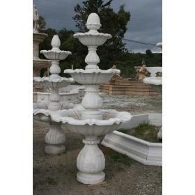 Fuente de mármol tres platos