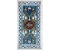 Tablero de mesa comedor para seis comensales en mosaico de lapislazuli y piedras duras semipreciosas