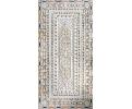 Tablero de mesa comedor para ocho comensales en mosaico de piedras duras semipreciosas y mármoles