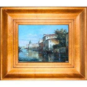 Cuadro con paisaje de venecia