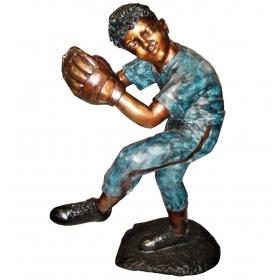 Jugador de baseball de bronce