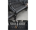 Set of 3 Cast Iron Black Benches
