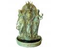 Fuente de pared en bronce mujeres niño y león