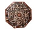 Tablero de mesa octogonal con mosaico de piedras duras