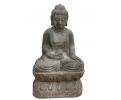 Escultura de piedra de buda completa