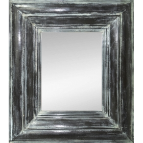 Espejo rectangular con gran marco negro