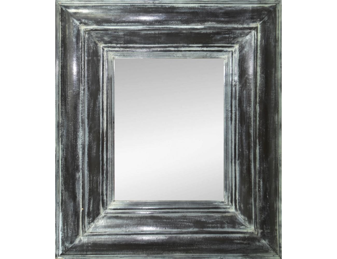 Espejo rectangular con gran marco negro for Espejo rectangular con marco