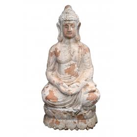 Escultura Buda de terracota