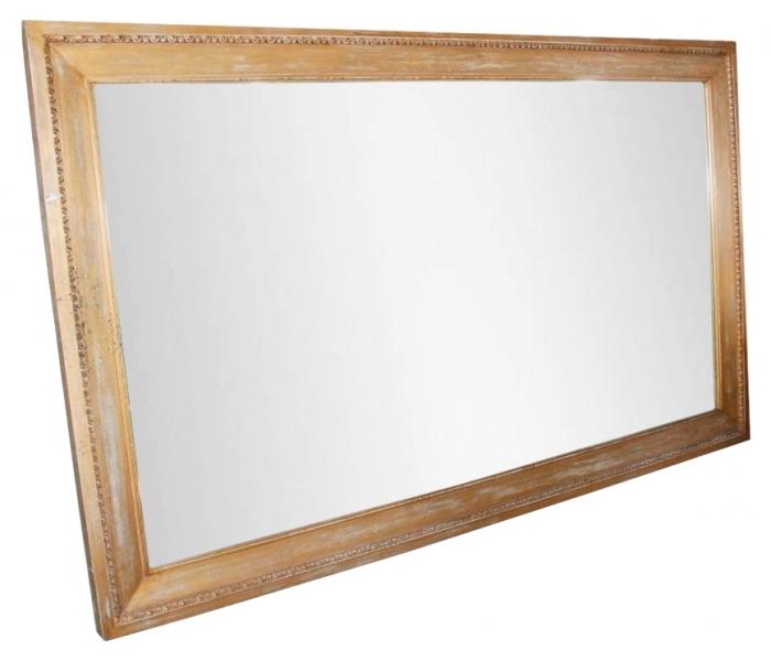 Espejo de grandes dimensiones con marco de madera for Espejos grandes con marco de madera