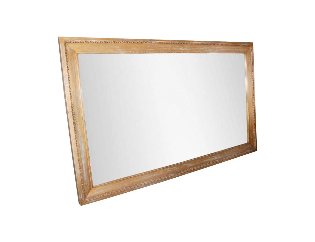 Espejo de grandes dimensiones con marco de madera for Marcos de madera para espejos grandes