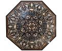 Tablero de mesa octogonal en mosaico de piedras duras semipreciosas y mármoles