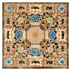 Tablero cuadrado de mosaico...