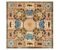 Tablero cuadrado de mosaico de piedras duras con mármoles y piedras semi preciosas