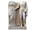 Alto relieve de estilo romano realizado en mármol envejecido