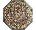 Tablero de mesa octogonal con incrustaciones de piedras duras