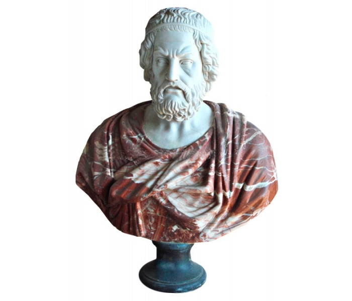 Busto De Homero Autor De La Iliada Y La Odisea