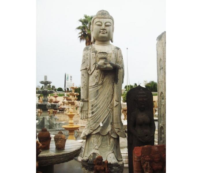 Escultura de piedra oriental buda