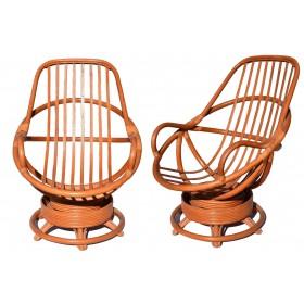Pareja de sillones de bambú