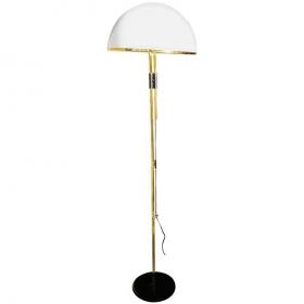 Lámpara de pie de latón dorado. Década de 1980