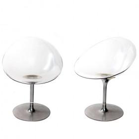 Pareja de sillas italianas transparentes diseñadas por Philippe Starck
