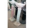 Pareja de columnas antiguas dos colores