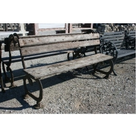 Cast Iron Bench with Wooden...