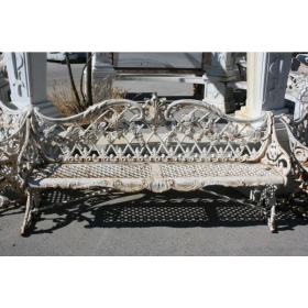 Antique Cast Iron Bench...