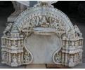 Relive de mármol tallado a mano antiguo y policromado