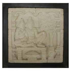 Relieve de piedra oriental...