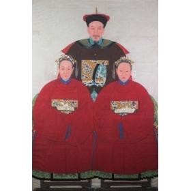 Escuela china S.XIX-XX tres...