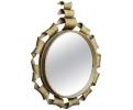 Espejo de hierro forjado dorado de los años 1950