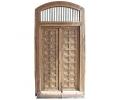 Puerta frontal doble realizada en madera con incrustaciones de hueso del siglo XIX