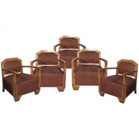 Conjunto de cinco sillones...