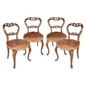 Conjunto de cuatro sillas...