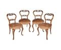 Conjunto de cuatro sillas vintage realizadas en madera