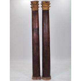 Pareja de columnas de pino...