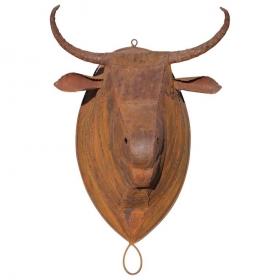 Escultura de cabeza de toro...