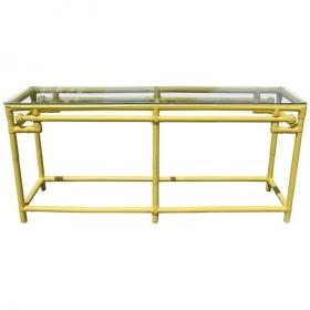 Consola de bambú amarilla...