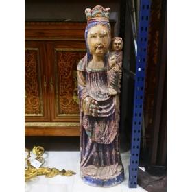 Escultura de madera religiosa