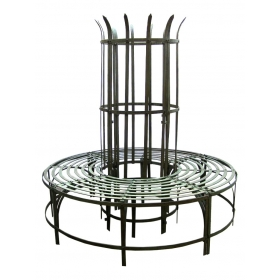 Large Wrought Iron Tree Seat