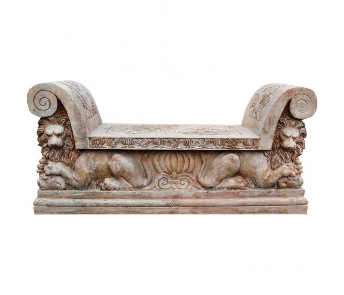 Italian Lions Hand Carved Red Verona...
