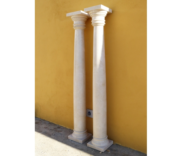 Pareja de columnas realizadas en...