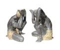 Pareja de esculturas pies de mesa realizados en bronce de Blackamoor. Finales del siglo XX
