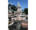 Fuente de mármol rosetta grande con tres platos