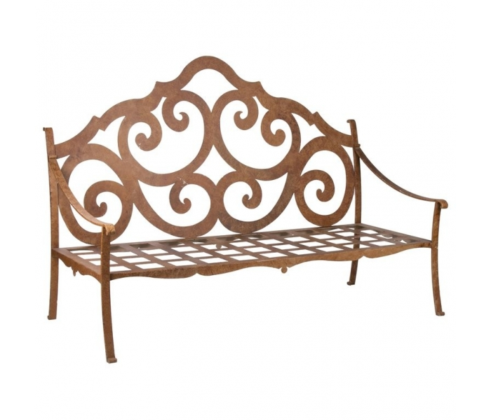 1990s French Iron Garden Bench...