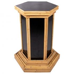 Base negra de bambú y...
