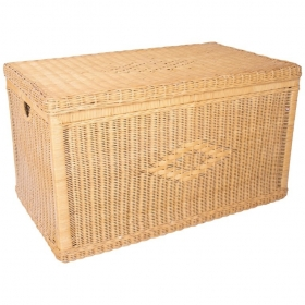 Vintage Wicker Trunk with...