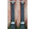 Pareja de columnas de mármol antiguas